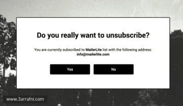 Unsubscribe email