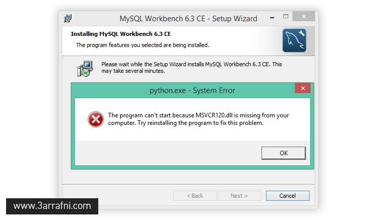 fix problem msvcr120.dll