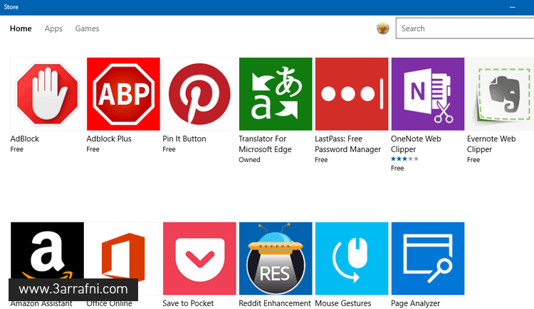store extensions for microsoft edge