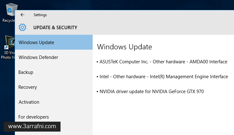 update device drivers via Windows Update
