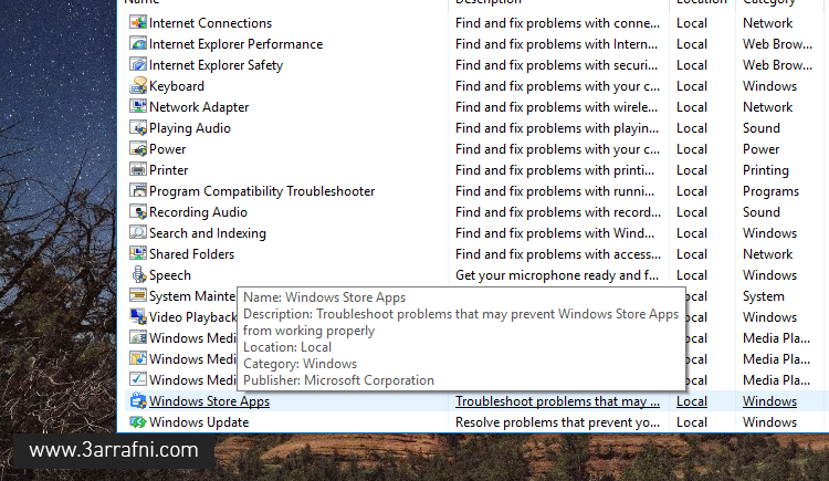 fix apps and store windows