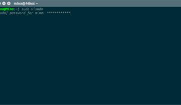 كيفية اظهار كلمة المرور في نافذة Terminal على شكل نجوم asterisks في نظام Ubuntu
