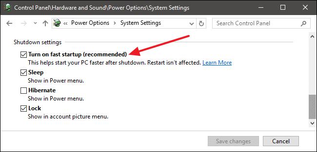 كيفية ظبط الحاسوب للإقلاع سريعاً على نظام ويندوز