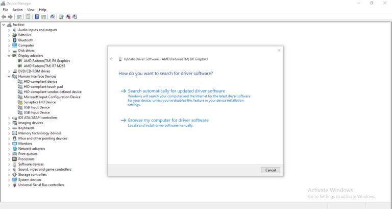 حل مشكلة التحكم في قوة ضوء الشاشة في نظام Windows 10