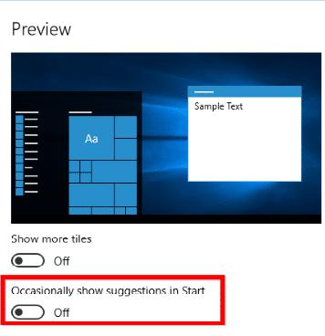 كيفية ازالة الأعلانات من شاشة القفل وقائمة Start في ويندوز 10