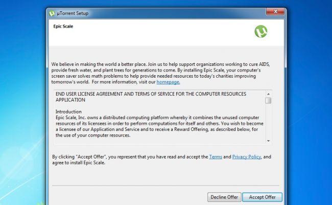 كيفية ازالة البرنامج الخفي EpicScale الذي يأتي مع برنامج uTorrent