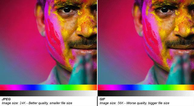 فرق بين صيغ الصور PNG و GIF و JPEG 4