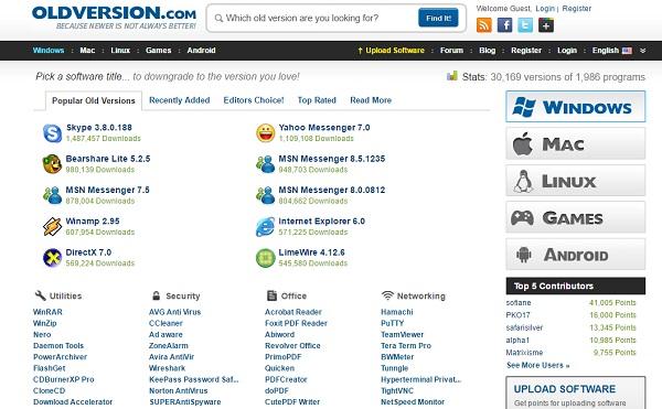 5 مواقع لتحميل برامجك بإصدارات قديمة بشكل مجانى 2