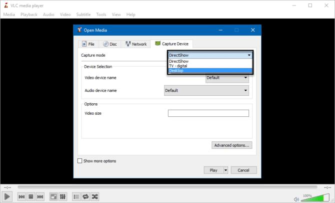 كيفية تصوير الشاشة فيديو بإستخدام برنامج VLC فى ويندوز 3