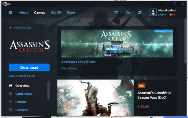 تحميل لعبة Assassin's Creed III متاحة الآن مجاناً بشكل رسمي 5