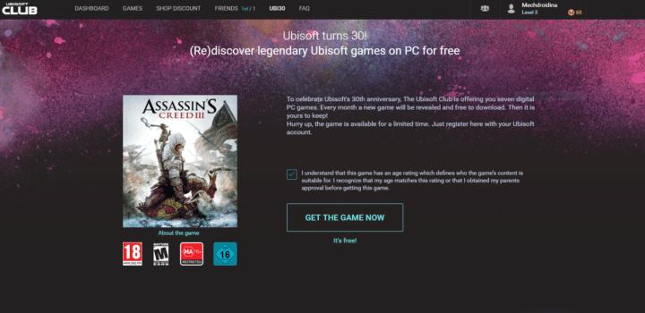 تحميل لعبة Assassin's Creed III متاحة الآن مجاناً بشكل رسمي 2