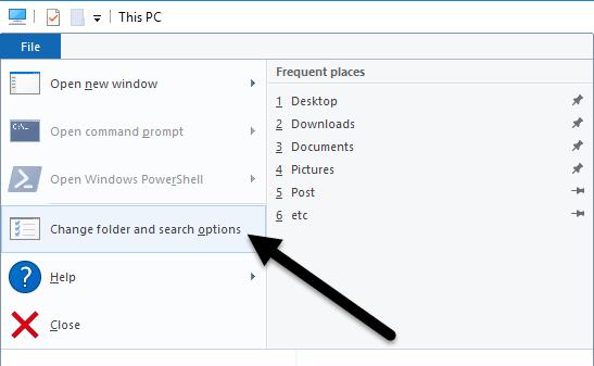 طريقة تغير المجلد الإفتراضى فى مستكشف الملفات فى ويندوز 10 Windows 2