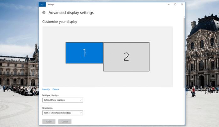 كيفية توصيل شاشتين على حاسوب واحد في ويندوز 4
