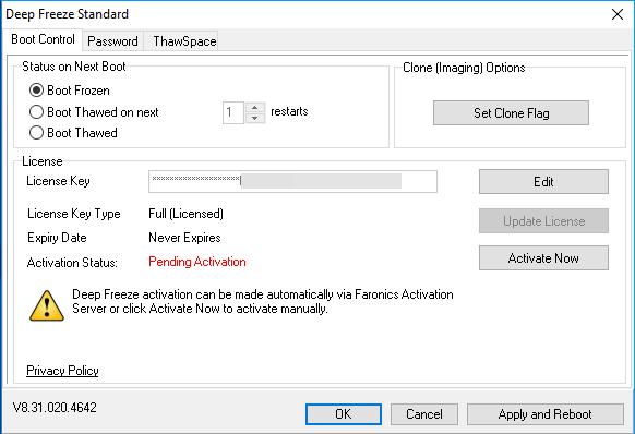 برنامج Deep Freeze ﻷستعادة حالة جهازك بعد اعادة التشغيل 8