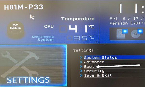 الدخول على BIOS وتغيير ترتيب أقلاع أي اصدار ويندوز 10