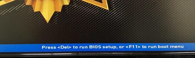 الدخول على BIOS وتغيير ترتيب أقلاع أي اصدار ويندوز 1