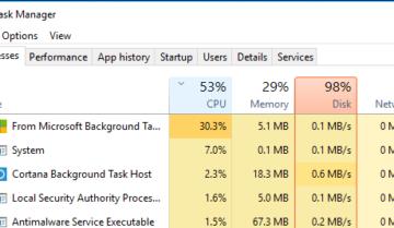 7 طرق لحل مشكلة استهلاك 100% Disk Usage من مساحة القرص الصلب على ويندوز 10