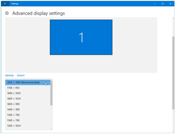 إصلاح مشاكل الإنتقال إلى شاشة أكبر ذات وضوح أعلى علي ويندوز 10 1