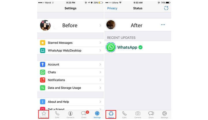 طريقة إضافة صورة و فيديو أو صورة متحركة GIF إلى WhatsApp Status 1