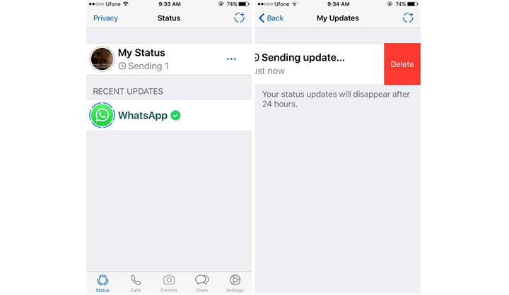 طريقة إضافة صورة و فيديو أو صورة متحركة GIF إلى WhatsApp Status 3