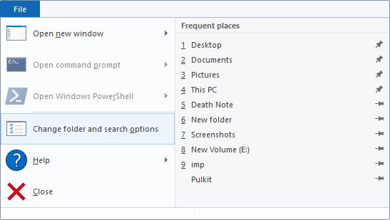 طريقة حذف تاريخ متصفح الملفات File Explorer في ويندوز 10