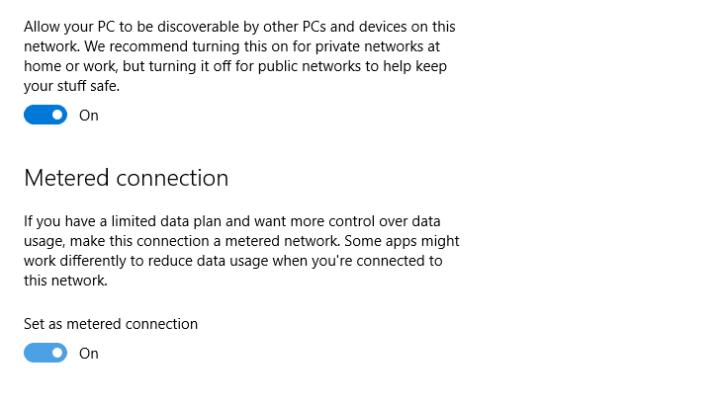 طريقة ايقاف تنزيل تحديثات ويندوز 10 علي شبكة واي فاي معينة بدون برامج 3