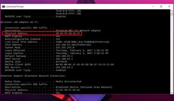 كيف تعرف عنوان MAC الخاص بجهازك علي ويندوز 10