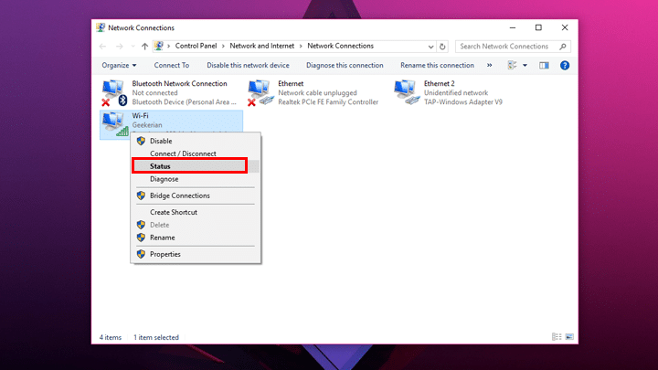 كيف تعرف عنوان MAC الخاص بجهازك علي ويندوز 10 4