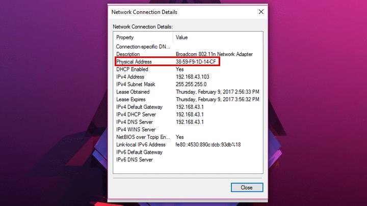 كيف تعرف عنوان MAC الخاص بجهازك علي ويندوز 10 6