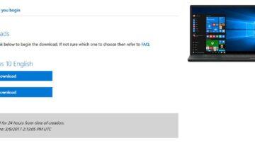 طريقة تحميل النسخة الرسمية بصيغة ISO لنظام التشغيل ويندوز 10 من مايكروسوفت