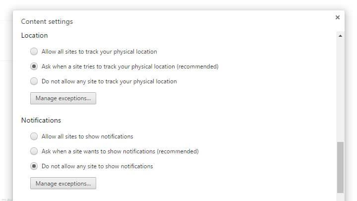 كيفية إيقاف تلقي الإشعارات من المواقع في متصفح جوجل كروم نهائيًا 3