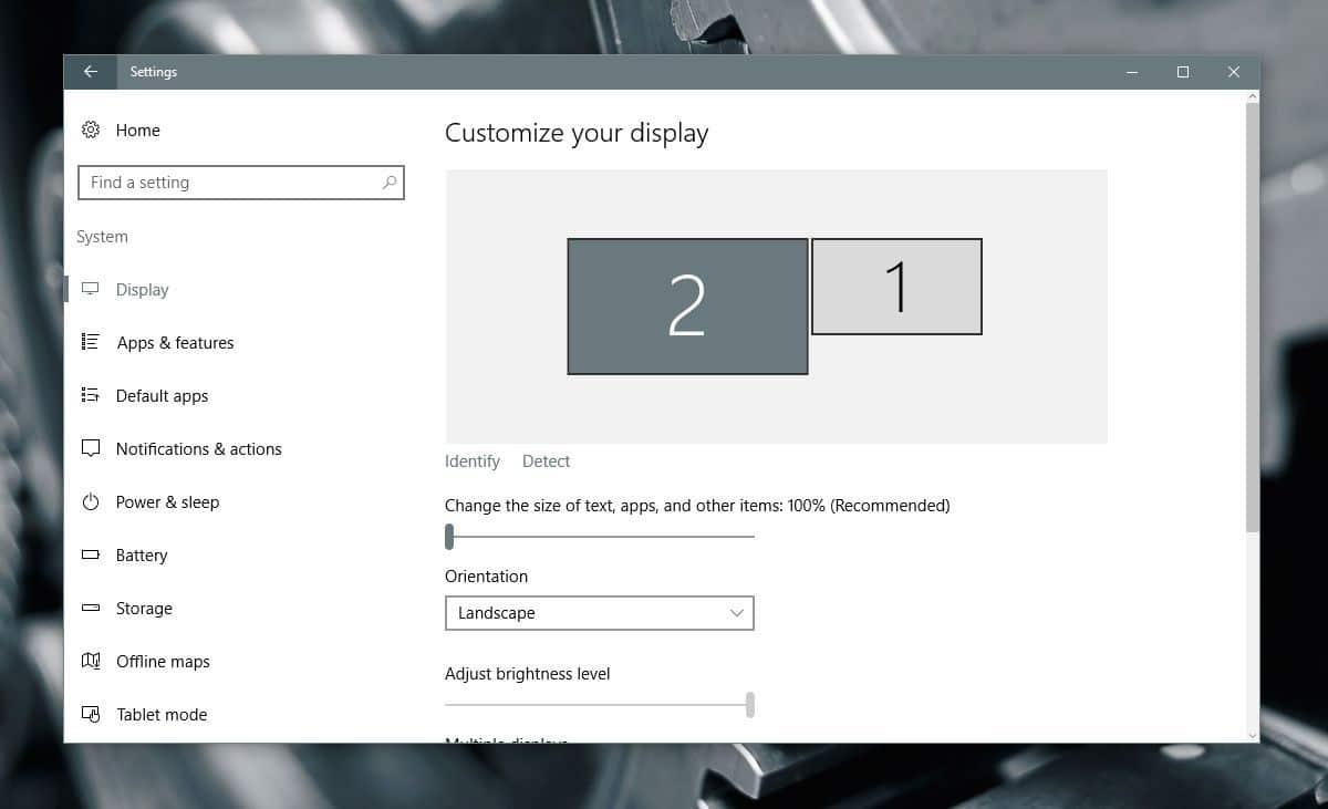 طريقة ضبط وضوح الصورة لعدة شاشات متصلة بجهازك لنظام ويندوز 10 1