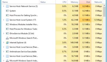 إصلاح مشكلة إستخدام 100٪ من القرص في نظام التشغيل Windows 10
