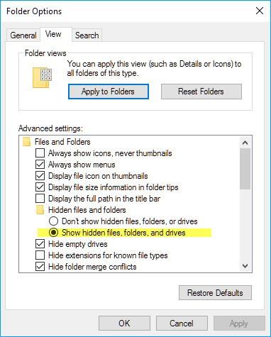 طريقة إخفاء و إظهار المجلدات و الملفات فى جميع أنظمة الويندوز 2