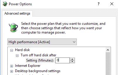 إصلاح مشكلة إستخدام 100٪ من القرص في نظام التشغيل Windows 10 7