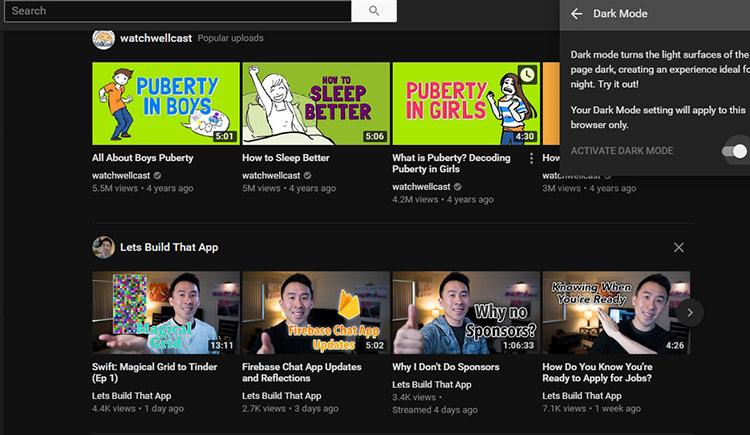 طريقة الحصول على التصميم الداكن الجديد لليوتيوب قبل تفعيله بشكل رسمي 3
