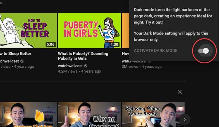 طريقة الحصول على التصميم الداكن الجديد لليوتيوب قبل تفعيله بشكل رسمي 4