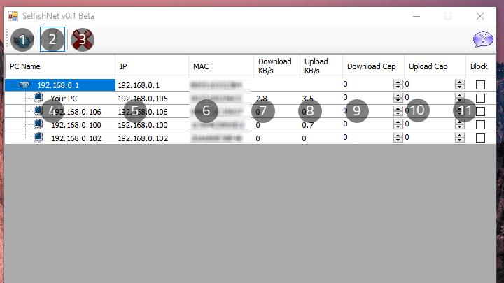 برنامج Selfishnet لتقسيم و تحديد سرعة الإنترنت للمتصلين بالراوتر 3