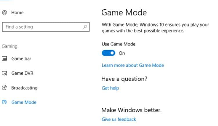 حل مشكلة بطئ الألعاب في ويندوز 10 عن طريق وضع Game Mode الجديد! 1