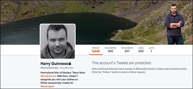 كيفية جعل حساب تويتر محمي (PROTECTED) و إخفاء المتابعين 1