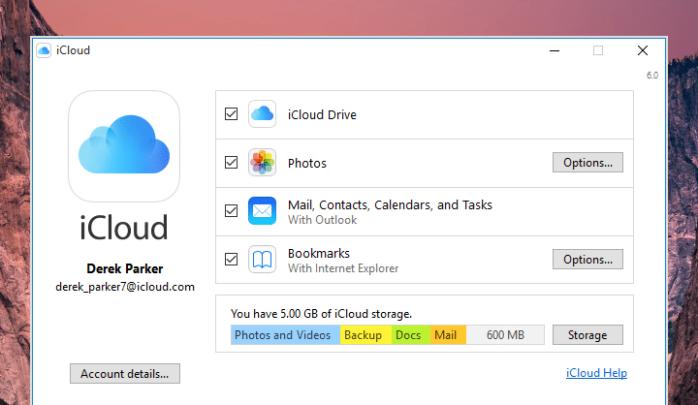 تثبيت واستخدام برنامج اي كلاود iCloud علي ويندوز Windows 10 3