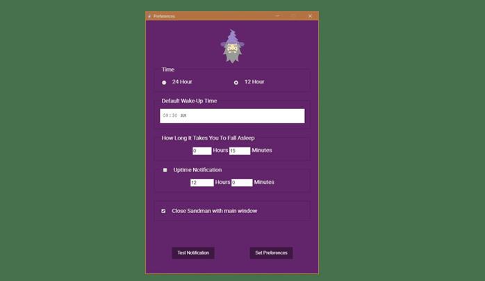 تطبيق Sandman لتنبيهك بوقت النوم المفضل لك لويندوز 2