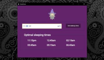 تطبيق Sandman لتنبيهك بوقت النوم المفضل لك.