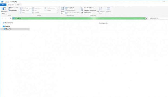 حل مشكلة ظهور رسالة Working On It في ويندوز 10 Windows 1