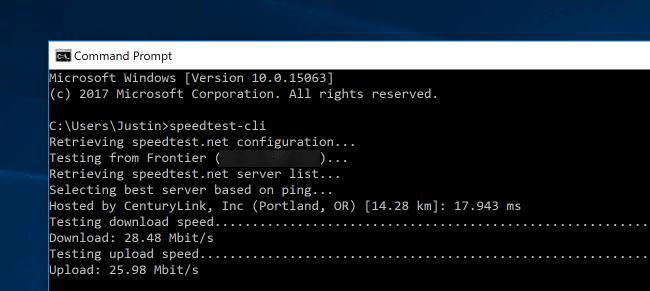 كيفية معرفة سرعة الإنترنت من شريط الأوامر Command Line ويندوز ولينكس وماك 2