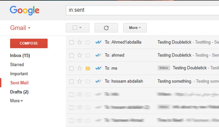 كيف يمكنك معرفة ما إن تم رؤية البريد الالكترونى الذى قمت بإرساله باضافة Doubletick 2
