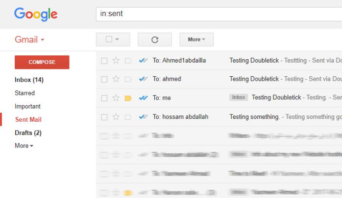 كيف يمكنك معرفة ما إن تم رؤية البريد الالكترونى الذى قمت بإرساله باضافة Doubletick 1