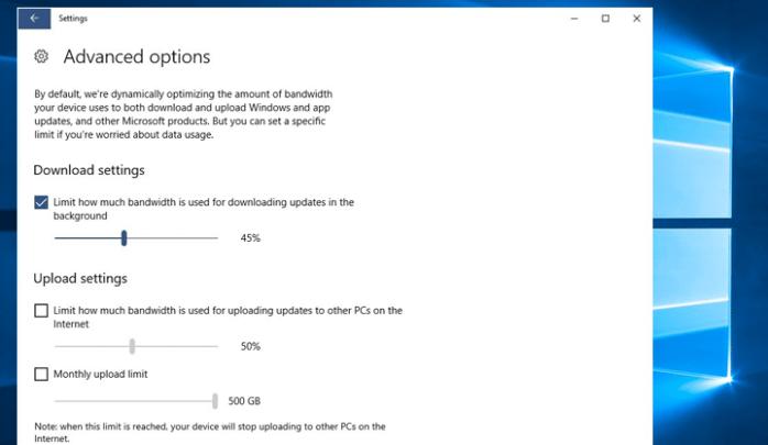 كيفية تحديد سرعة تحميل التحديثات فى Windows 10 2
