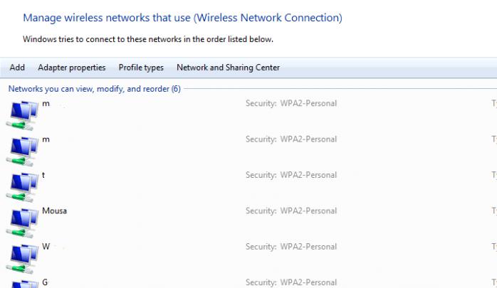 كيفية معرفة الرقم السرى الخاص بـWi-Fi متصل بها او لست على Windows 3
