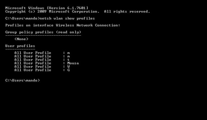 كيفية معرفة الرقم السرى الخاص بـWi-Fi متصل بها او لست على Windows 4